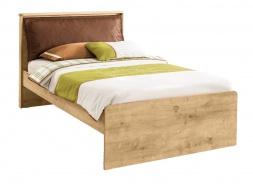Studentská postel s polštářem Cody 120x200cm - dub světlý