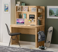 Jednoduchý psací stůl s nástavcem Cody - dub světlý