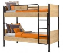 Patrová postel Cody 90x200cm - dub světlý/černá