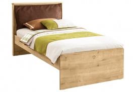 Dětská postel s polštářem Cody 100x200cm - dub světlý