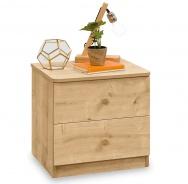 Zásuvkový noční stolek Cody - dub světlý