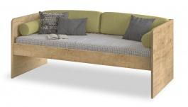 Jednoduchá postel Cody 90x200cm - dub světlý