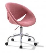 Čalouněná židle na kolečkách Celeste - růžová