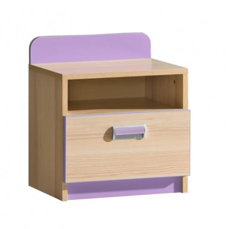 Dětský noční stolek Melisa - jasan/fialová