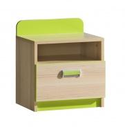 Dětský noční stolek Melisa - jasan/zelená