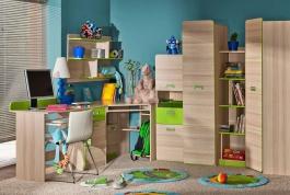 Dětský pokoj Melisa I - jasan/zelená