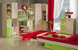 Studentský pokoj Melisa II - jasan/zelená