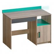 Dětský psací stůl Groen - jasan/antracit/zelená