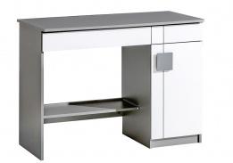 Dětský psací stůl Loki - bílá/antracit