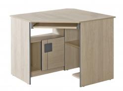 Rohový PC stůl Loki - dub santana/popel