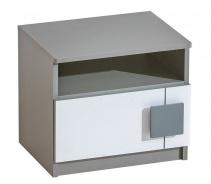 Noční stolek Loki - bílá/antracit