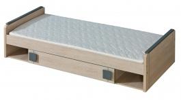 Dětská postel 80x195cm s úložným prostorem Loki - dub santana/popel