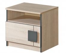 Noční stolek Loki - dub santana/popel