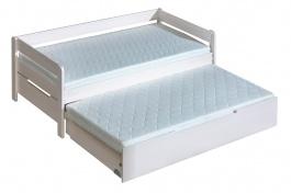 Dětská postel z masivu 90x200cm Tibor s přistýlkou - výběr moření