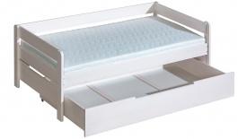 Dětská postel z masivu 90x200cm Tibor se zásuvkou - výběr moření