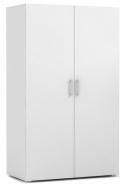 Dvoudveřová šatní skříň REA Catania 2 - bílá