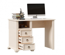 Psací stůl Annie - dub provence bílá
