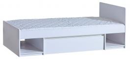 Dětská postel 90x195cm se zásuvkou Liana - bílá