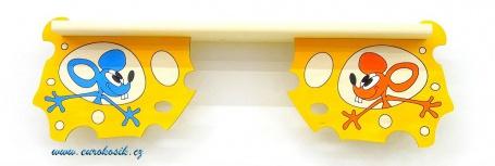 Dětská polička Myši v sýru spodní 90 cm