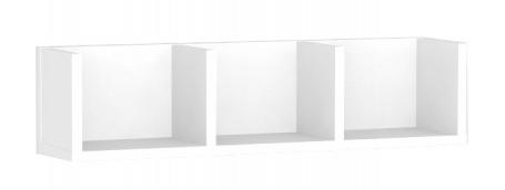 3 dílná police REA v barvě bílá