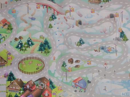 """Dětský hrací koberec """"Zasněžené město"""""""