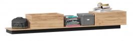Odkládací stolek k posteli Trendy - dub zlatý/černá