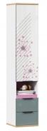 Kombinovaná skříň Trendy - bílá/růžová/šedomodrá
