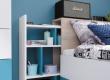 Studentská/dětská postel Saturn bílá - levá/pravá