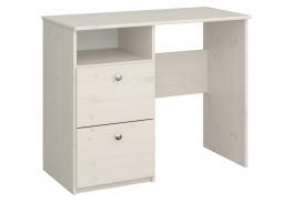 Psací stůl Amenity - masiv/bílá