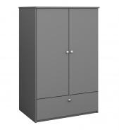 Šatní skříň Amenity v.123cm - tmavě šedá