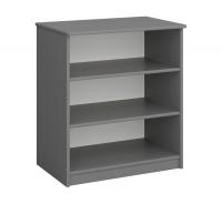 Regál nízký Amenity - šedý