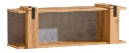 Závěsná police Dorian - beton/dub wotan