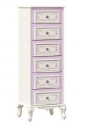 Vysoká komoda Comtesa - alabastr/fialová