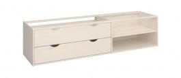 Úložný box se šuplíky pod postel Dany - masiv/bílá