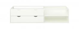 Úložný box se šuplíky pod postel Dany - bílý