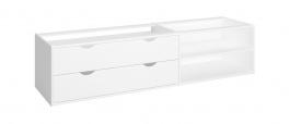 Úložný box se šuplíky pod postel Dany - čistě bílý
