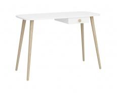 Psací stůl Mokiana - bílý/masiv