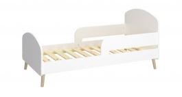 Dětská postel Mokiana 70x140cm - bílá/masiv