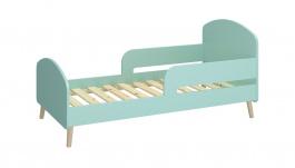 Dětská postel Mokiana 70x140cm - mintová/masiv