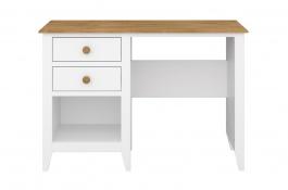 Psací stůl Pablo - bílý/masiv