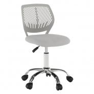 Otočná židle SELVA - šedá/chrom