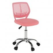 Otočná židle SELVA - růžová/chrom