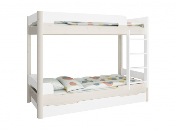 Patrová postel s přistýlkou Eveline 90x200cm - bílá