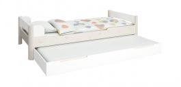 Dětská postel s přistýlkou Eveline 90x200cm - bílá
