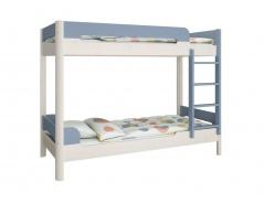 Patrová postel Eveline 90x200cm - bílý masiv/modrá