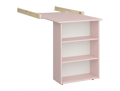 Závěsný stolek k vyvýšené posteli Amenity - růžový/bílá