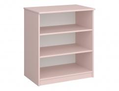 Regál nízký Amenity - růžový/bílá