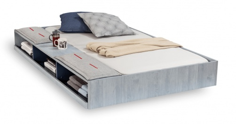 Zásuvka 90x190cm s úložným prostorem k posteli Lincoln - dub modrý