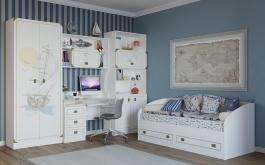 Dětský pokoj v námořnickém stylu Sailor - bílá