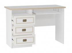 Psací stůl s výsuvnou deskou Sailor - bílá/dub